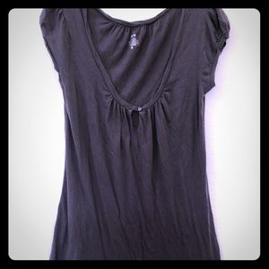 Charcoal gray Mossimo tunic tee